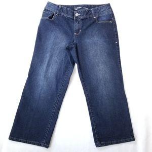 Lane Bryant Genius Fit Capri Jeans 14 Blue Cropped